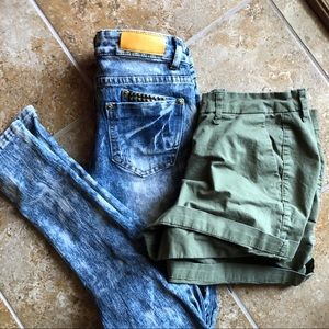 Women's bundle Sz 2. Jeans and Old Navy shorts